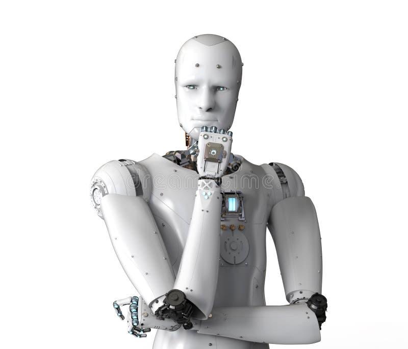 机器人机器人认为 库存例证