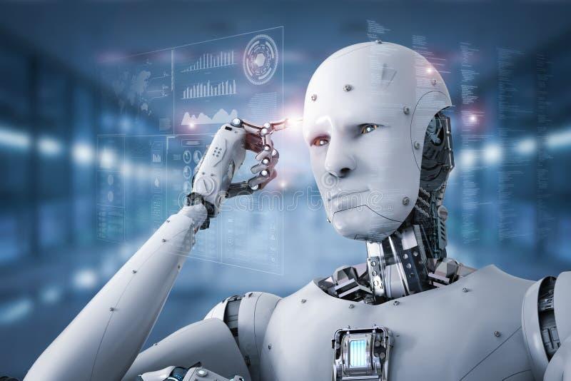 机器人机器人认为 图库摄影