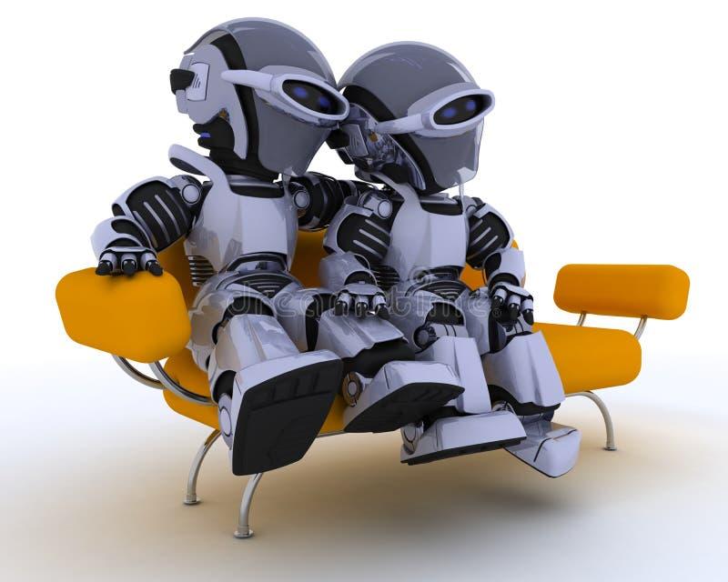 机器人沙发 皇族释放例证
