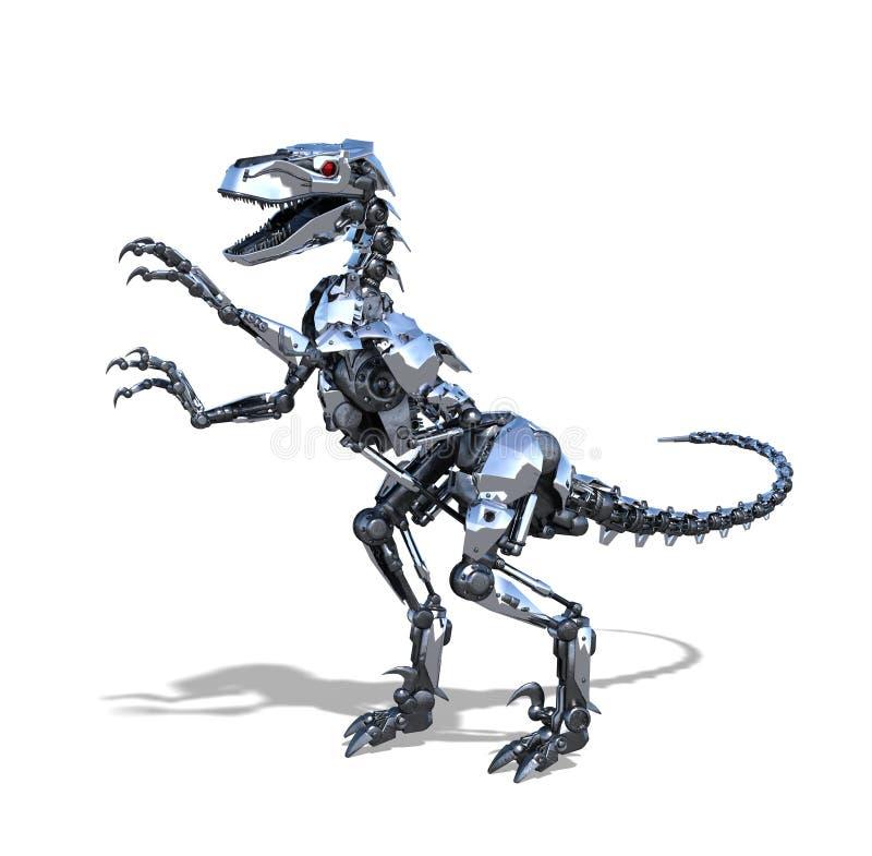 机器人猛禽恐龙 皇族释放例证