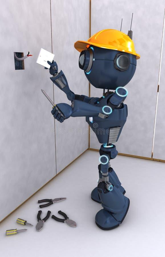 机器人电工 皇族释放例证