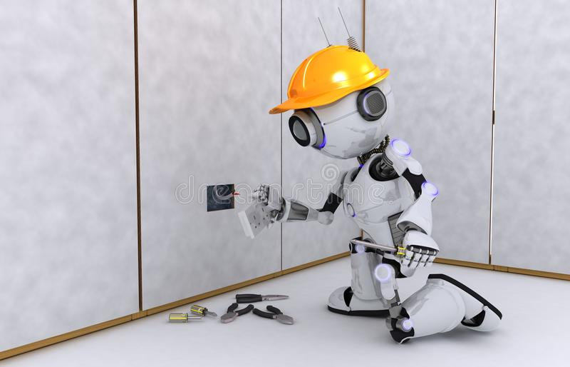 机器人电工 向量例证