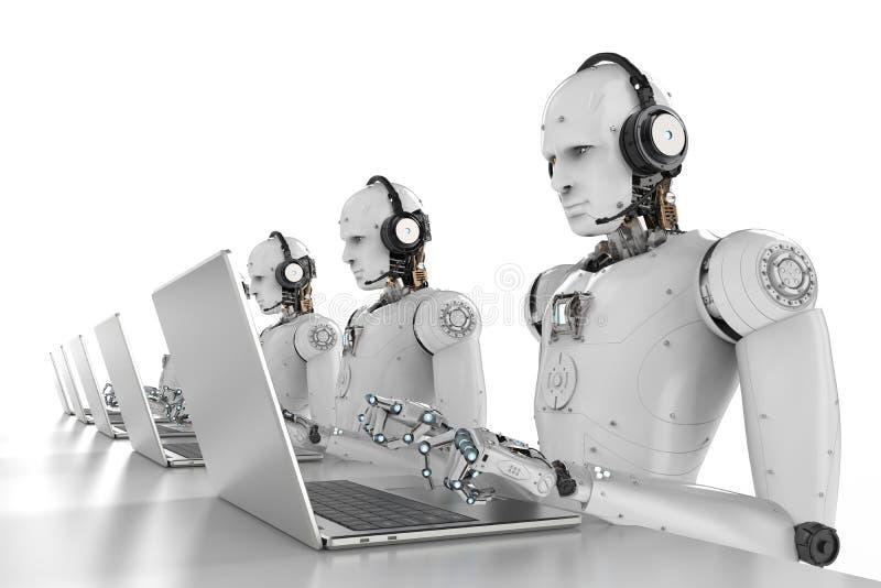 机器人电话中心 免版税库存图片