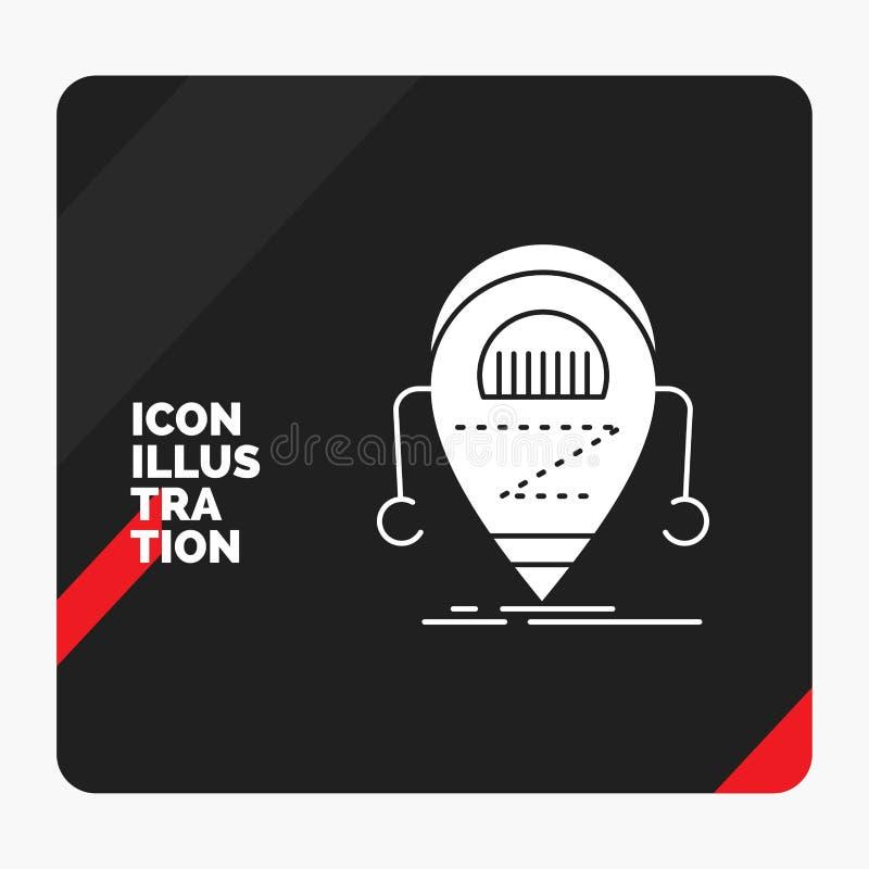 机器人的红色和黑创造性的介绍背景,beta,droid,机器人,技术纵的沟纹象 皇族释放例证