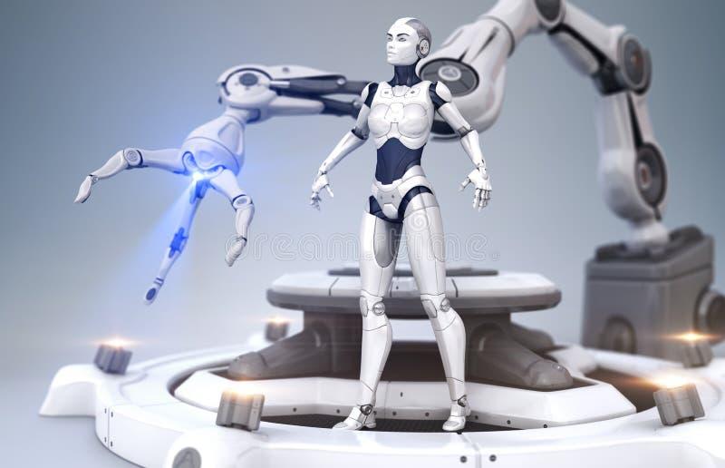 机器人的年龄 向量例证