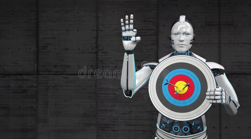 机器人目标 皇族释放例证