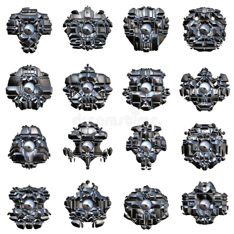 机器人眼睛 皇族释放例证