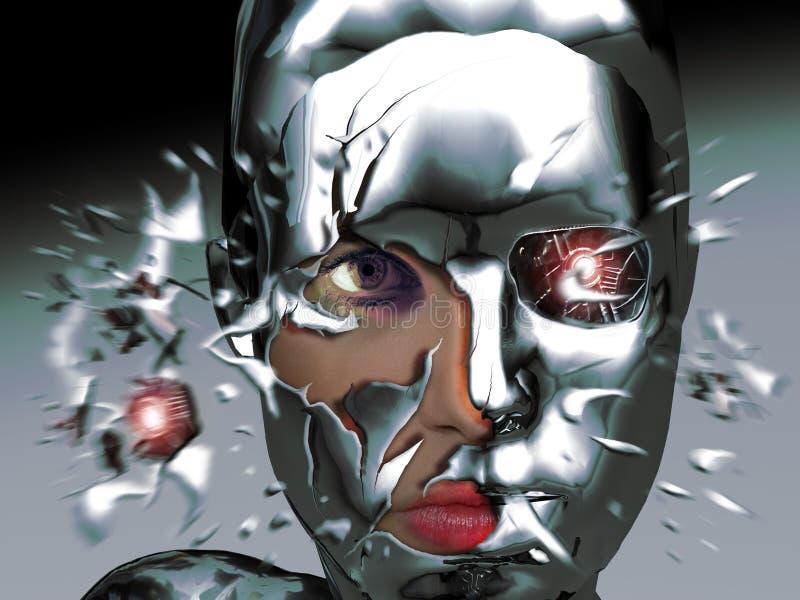 机器人秀丽 皇族释放例证