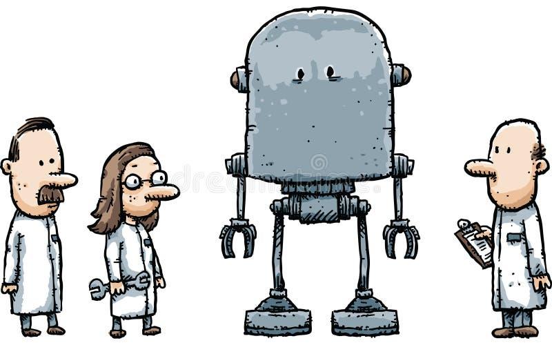 机器人科学家 库存例证