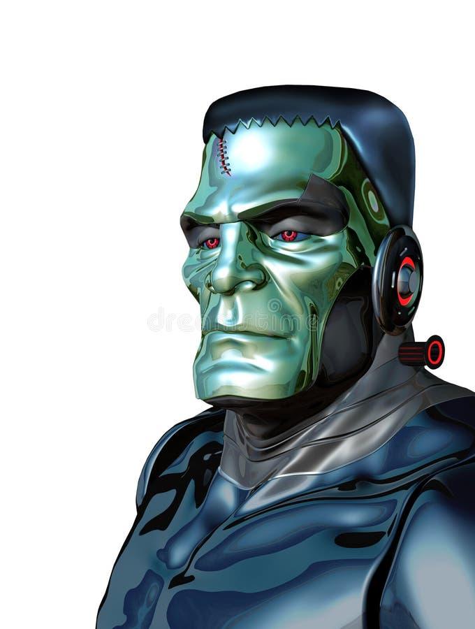 机器人科学怪人-人工智能威胁 皇族释放例证