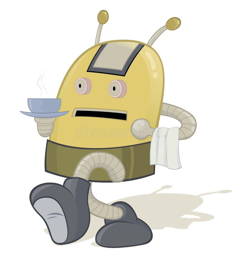 机器人等候人员 向量例证