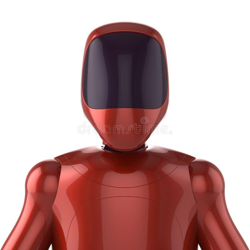 机器人红色未来派靠机械装置维持生命的人马胃蝇蛆机器人具体化概念 库存例证