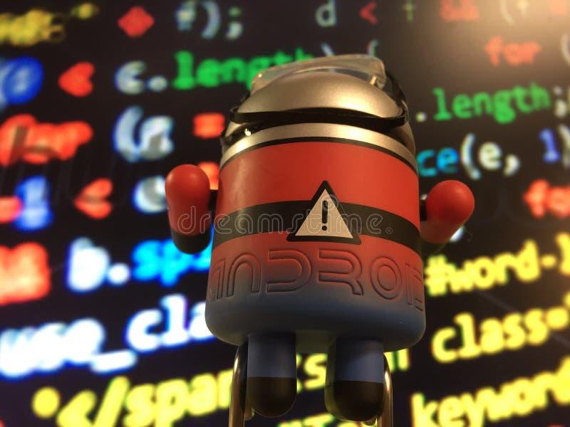 机器人编码人 库存照片