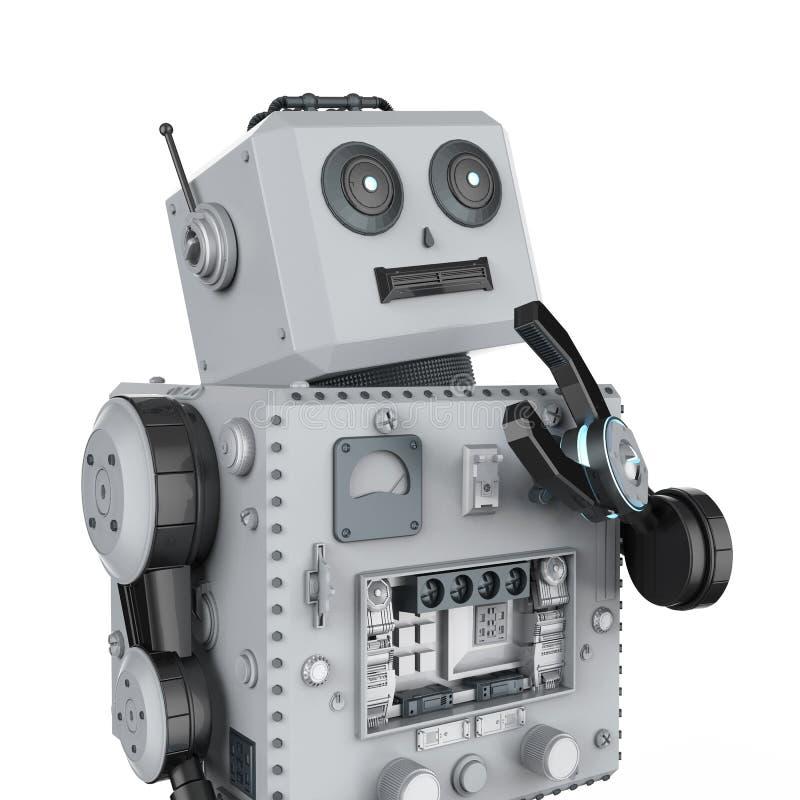 机器人罐子玩具认为 向量例证
