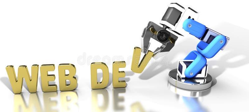 机器人网发展技术 皇族释放例证