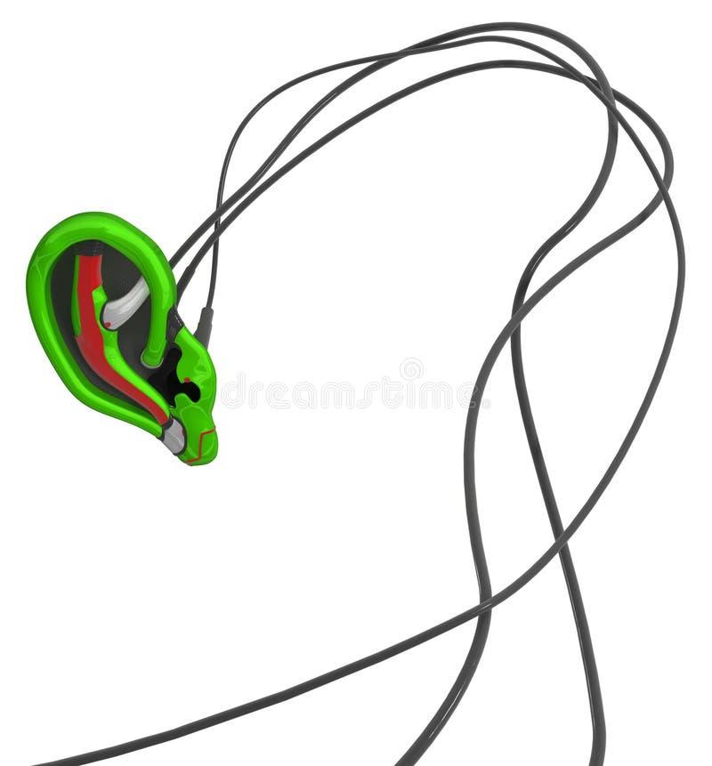 机器人耳朵绿色 向量例证