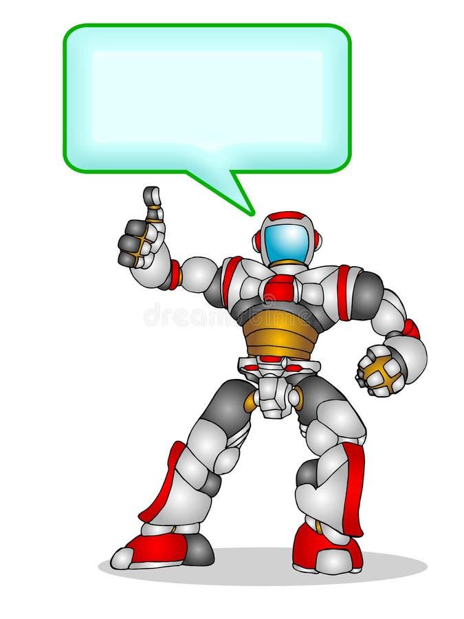 机器人联系 向量例证