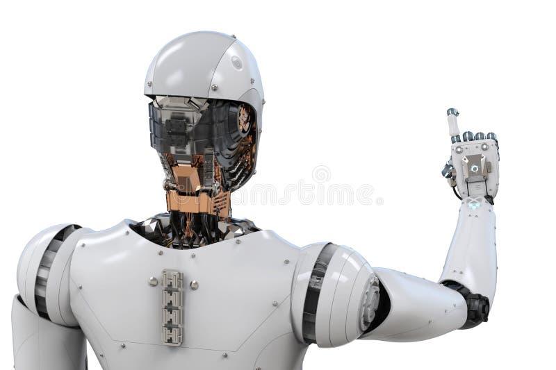 机器人背面图  库存例证