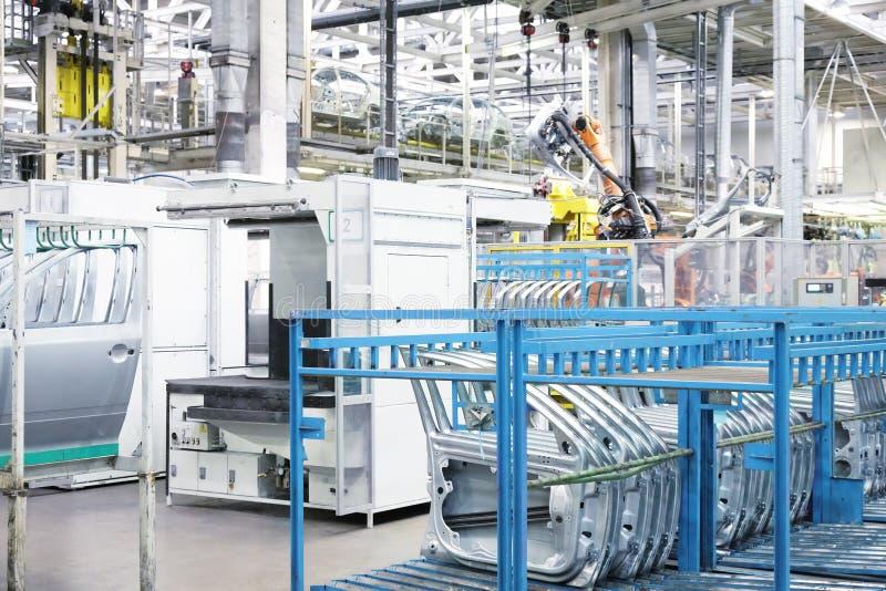 机器人胳膊和备件 免版税库存照片