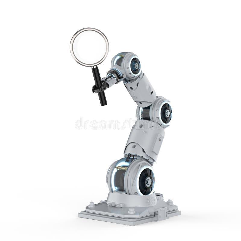 机器人胳膊查寻 皇族释放例证