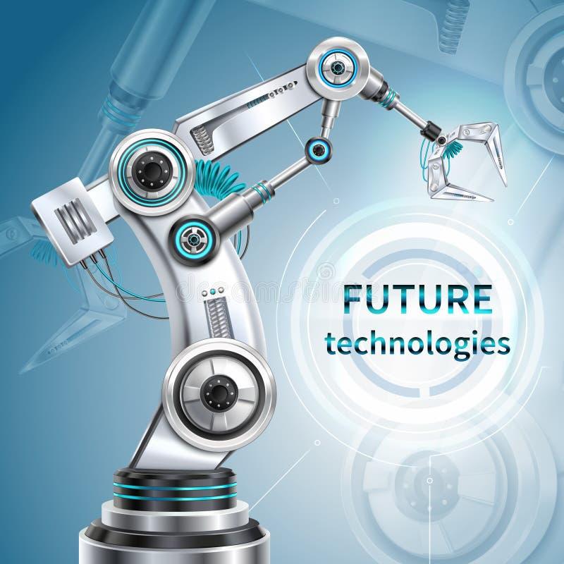 机器人胳膊海报 向量例证
