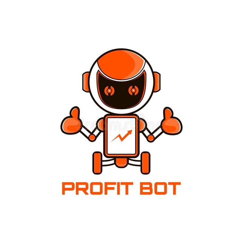 机器人营销吉祥人传染媒介例证 库存例证