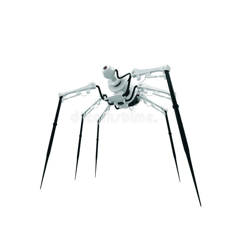 机器人蜘蛛间谍 向量例证