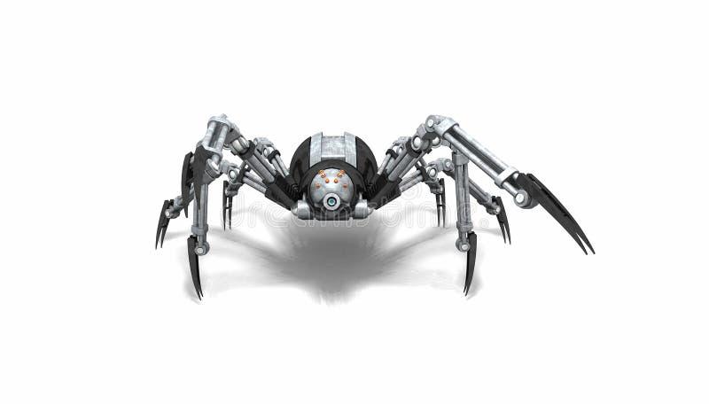 机器人蜘蛛 皇族释放例证