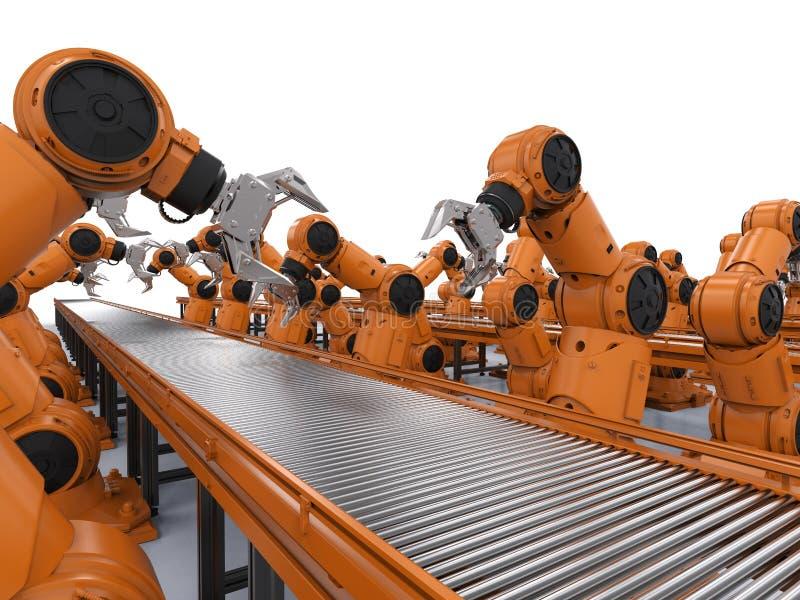 机器人装配线 库存例证