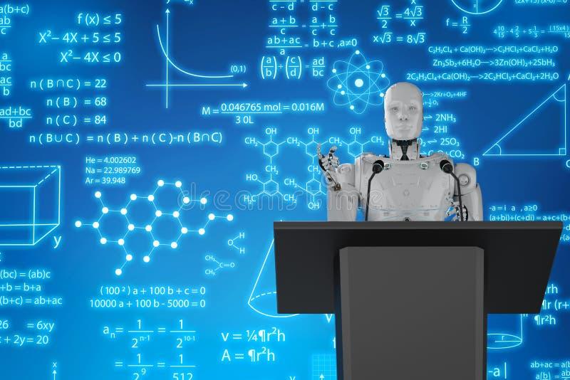 机器人讲师教学 皇族释放例证