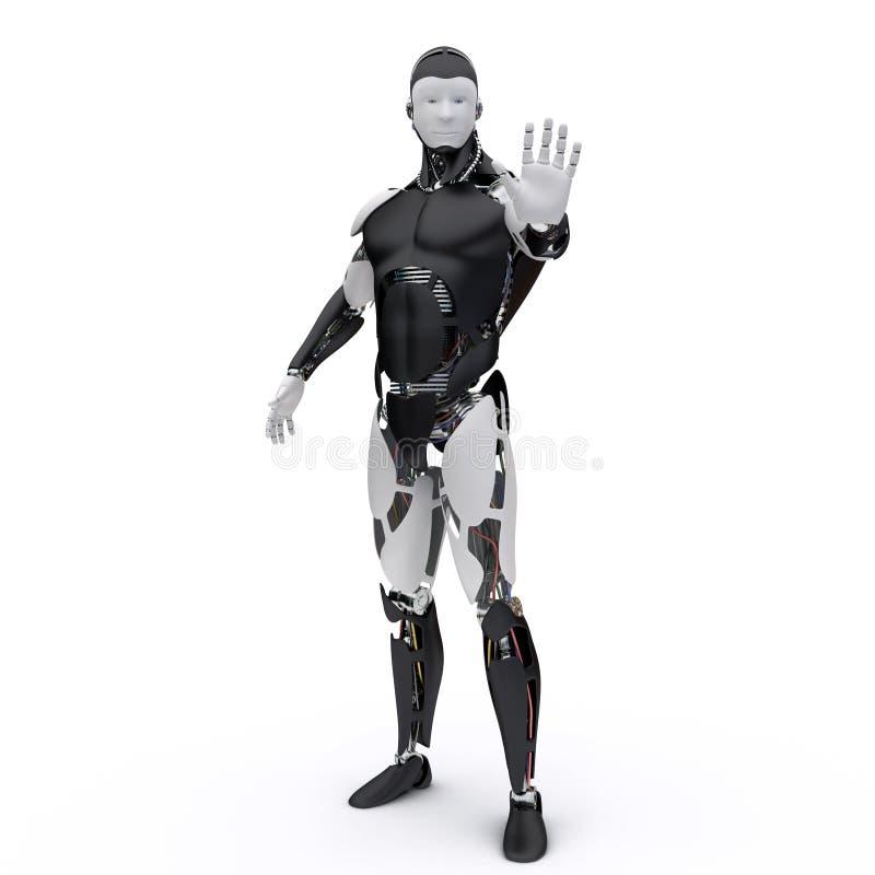 机器人说stop2 库存例证