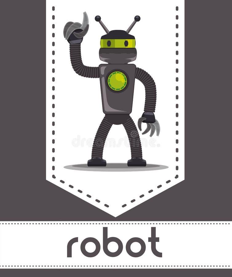 机器人象设计 向量例证