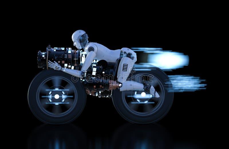 机器人速度移动 库存例证