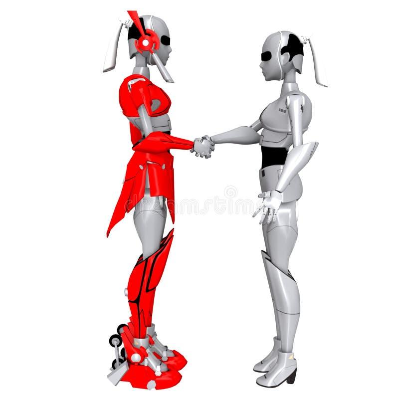 机器人震动手 皇族释放例证