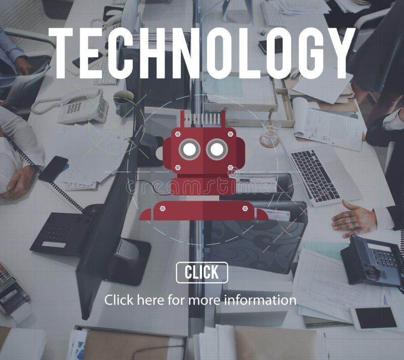 机器人靠机械装置维持生命的人AI机器人学机器人概念 免版税库存照片