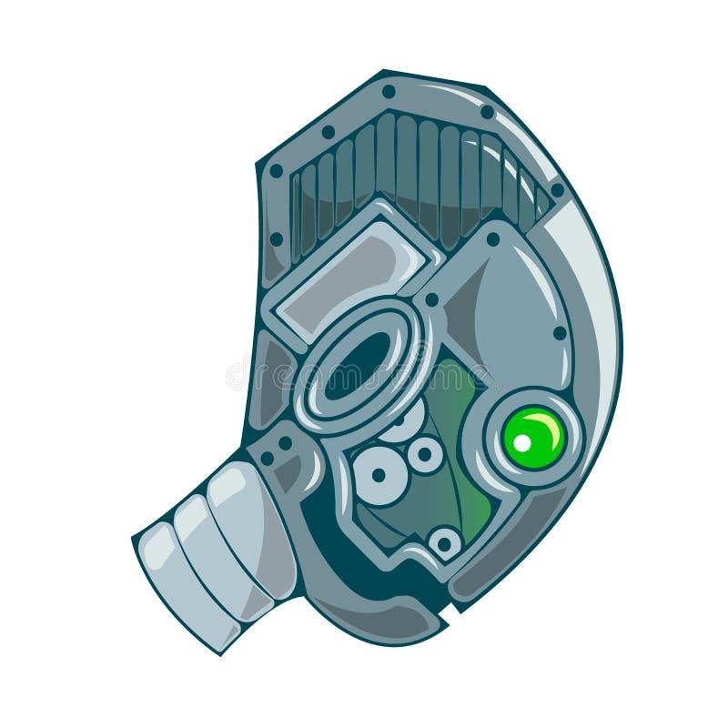机器人顶头象 传染媒介机器人平的象 皇族释放例证