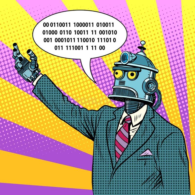 机器人领导政客 向量例证