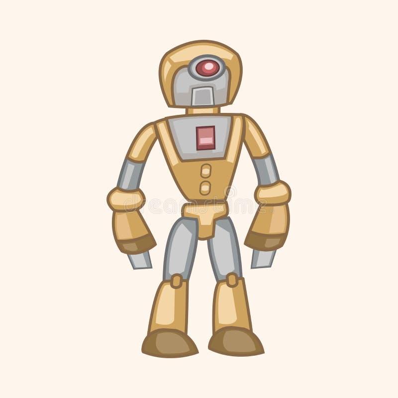 机器人题材元素传染媒介, eps 皇族释放例证