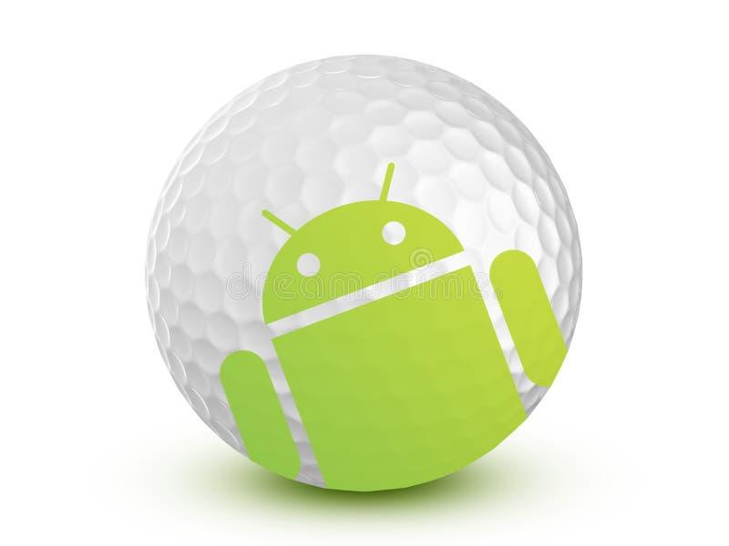 机器人高尔夫球存储 免版税库存图片