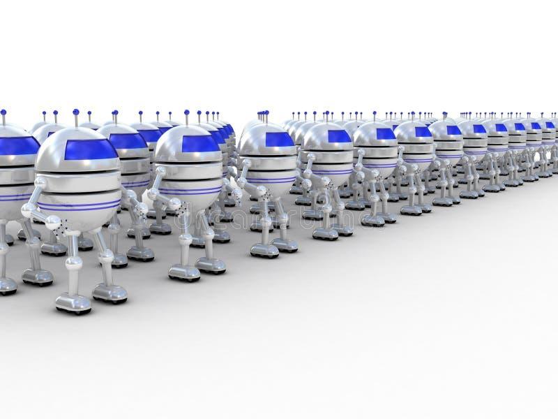 机器人, 3D 皇族释放例证