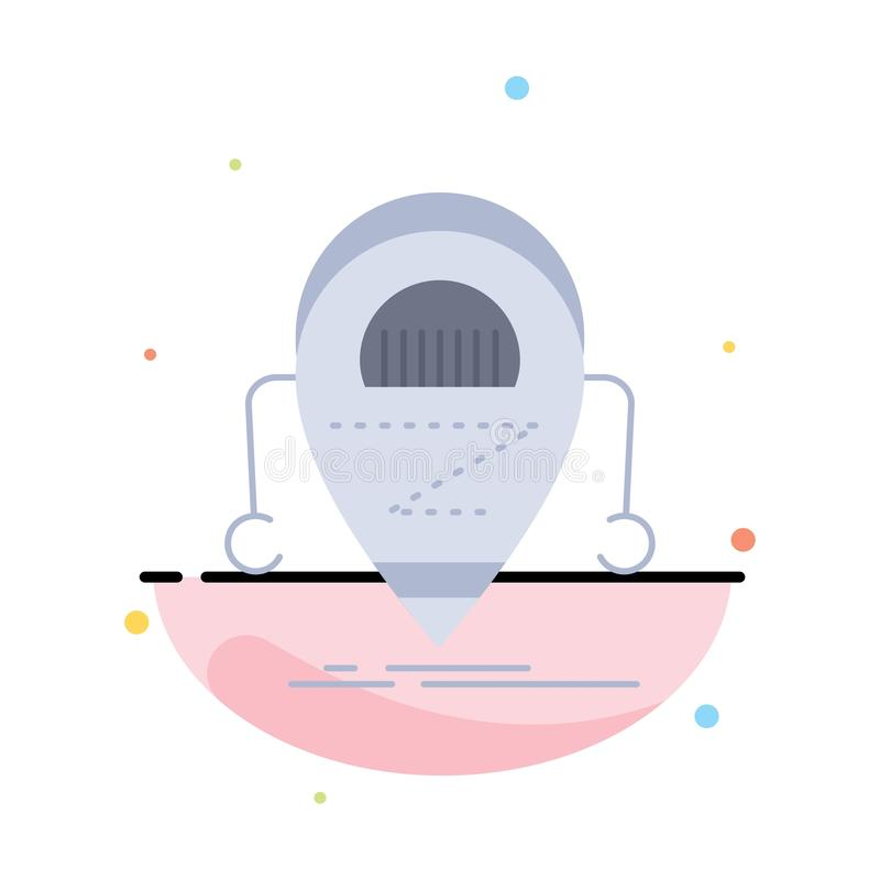 机器人,beta,droid,机器人,技术平的颜色象传染媒介 皇族释放例证