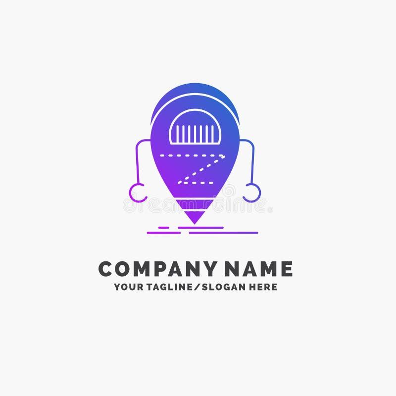 机器人,beta,droid,机器人,技术紫色企业商标模板 r 库存例证