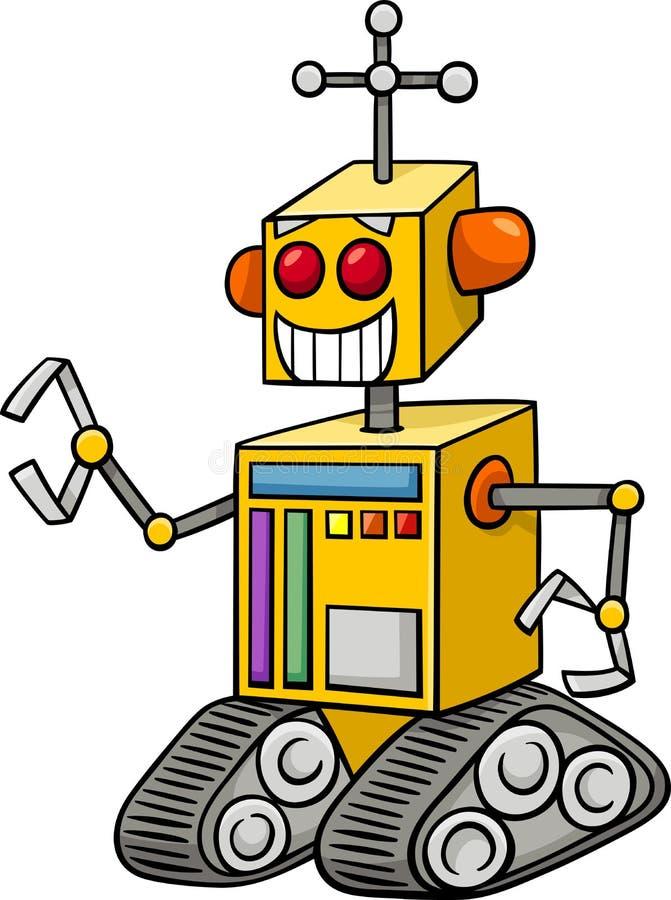 机器人幻想字符动画片 库存例证