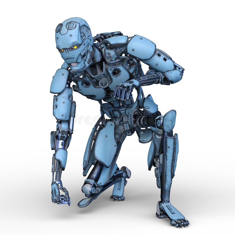 机器人 皇族释放例证