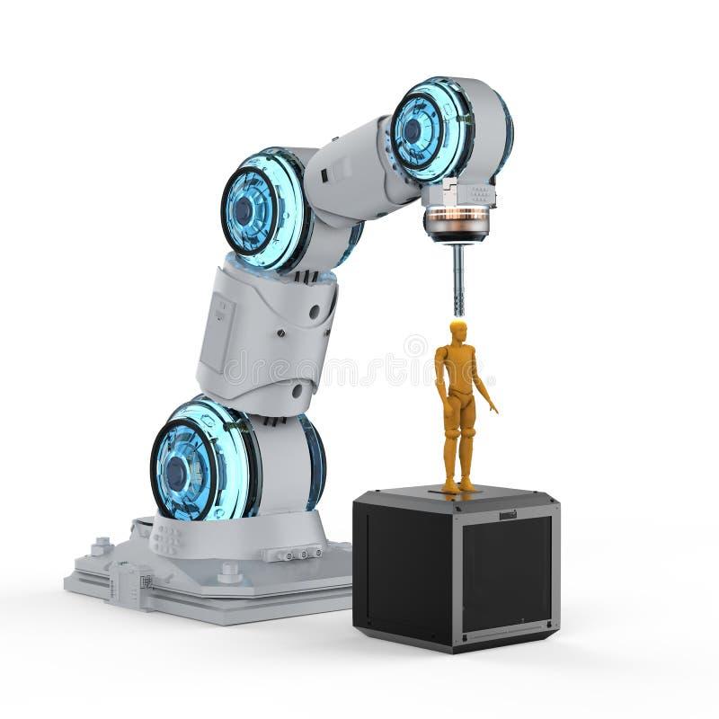 机器人3d打印机 库存例证