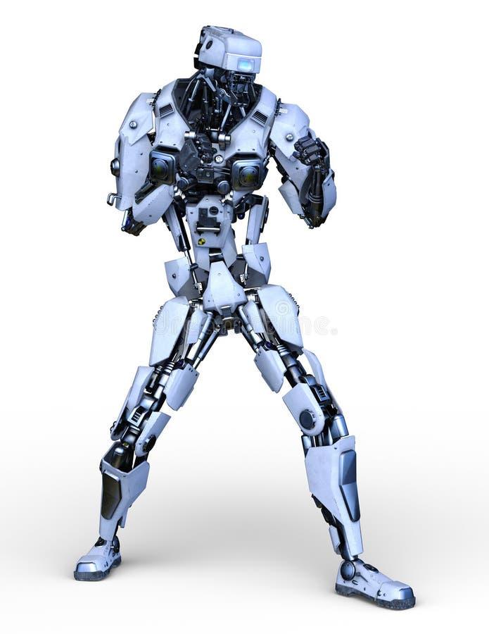 机器人3D CG翻译  库存例证