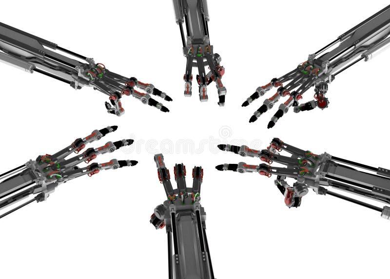 机器人6个的现有量 库存例证