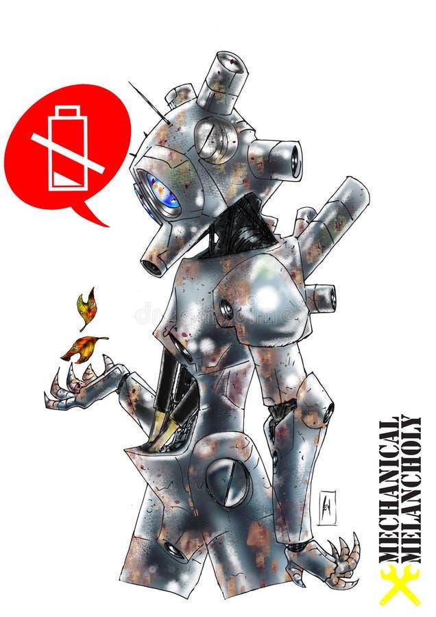 机器人mecchanical忧郁 皇族释放例证