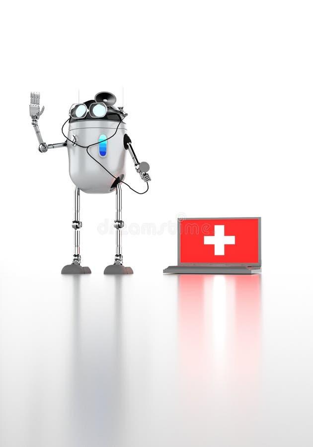 机器人medik 3d回报 皇族释放例证