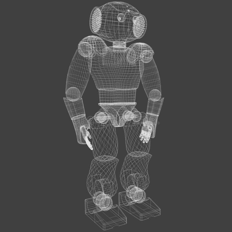 机器人wireframe 免版税库存照片